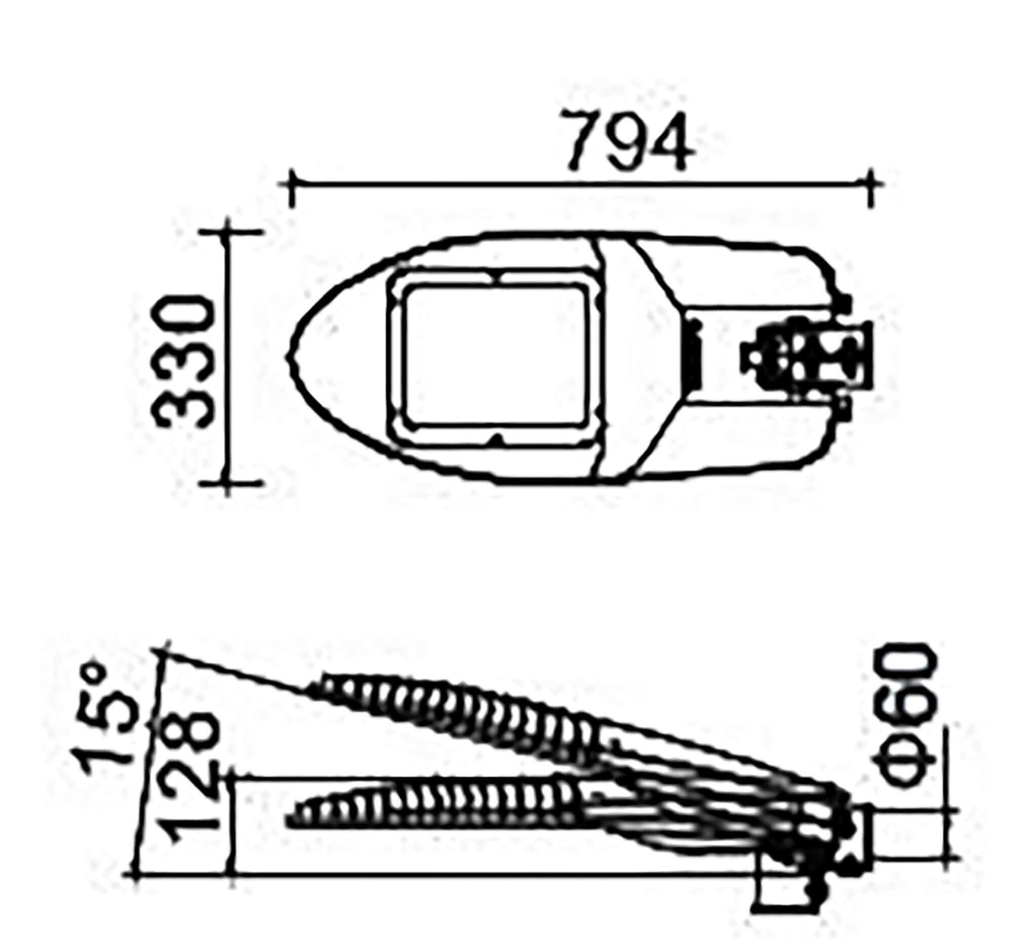 thông số kỹ thuật đèn đường led ekona
