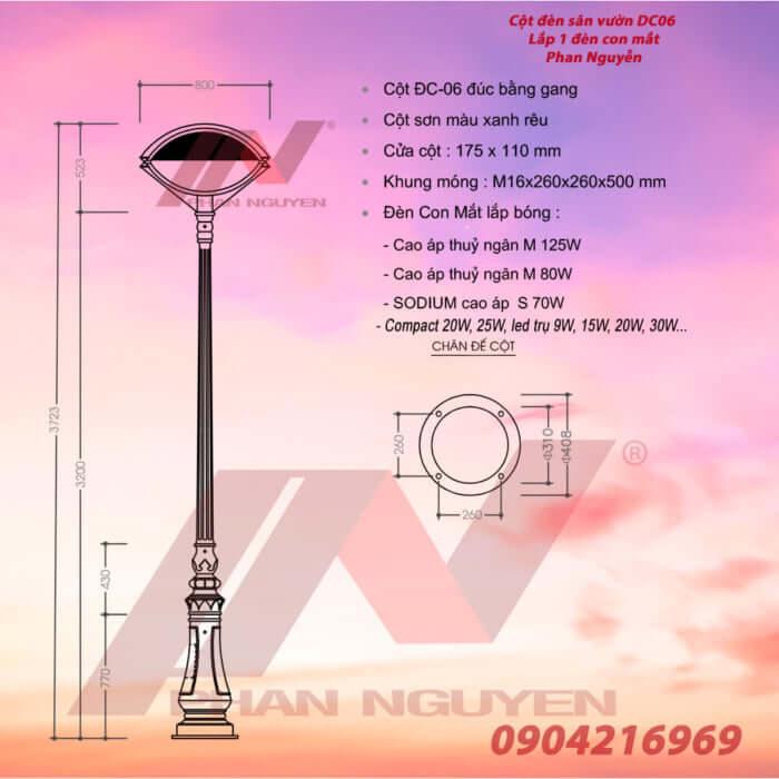 giá cột đèn sân vườn