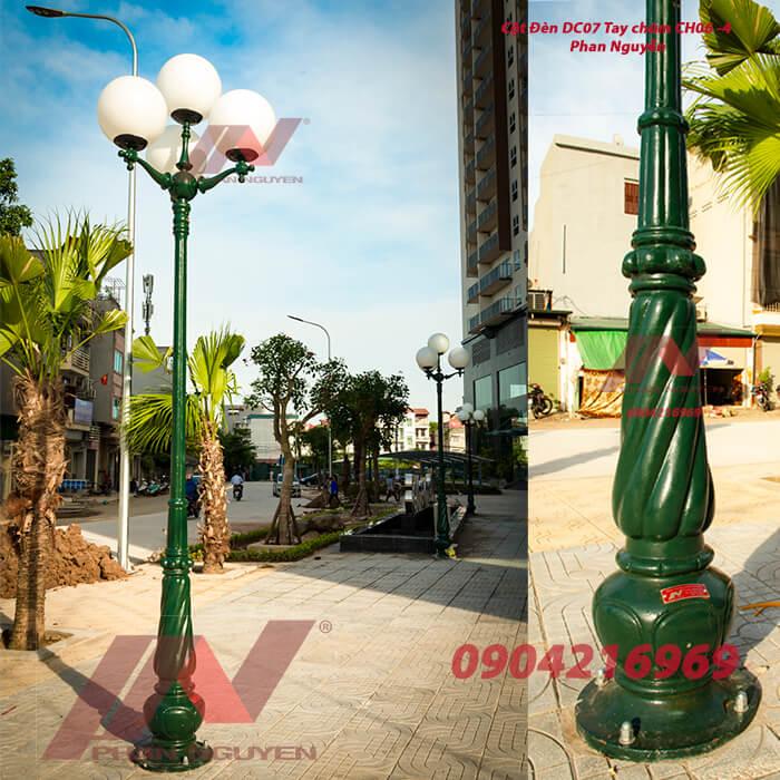 cột đèn sân vườn banian dc07 đế gang