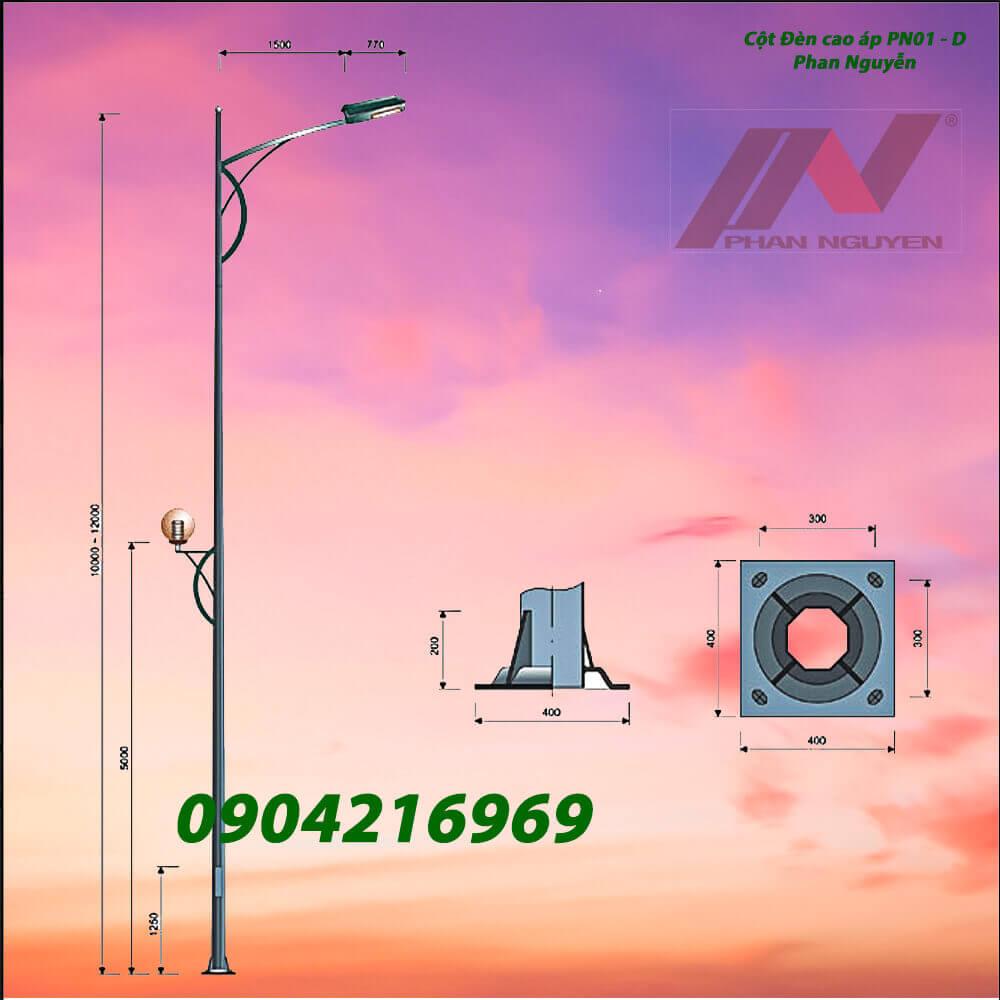 cột đèn chiếu sáng PN01