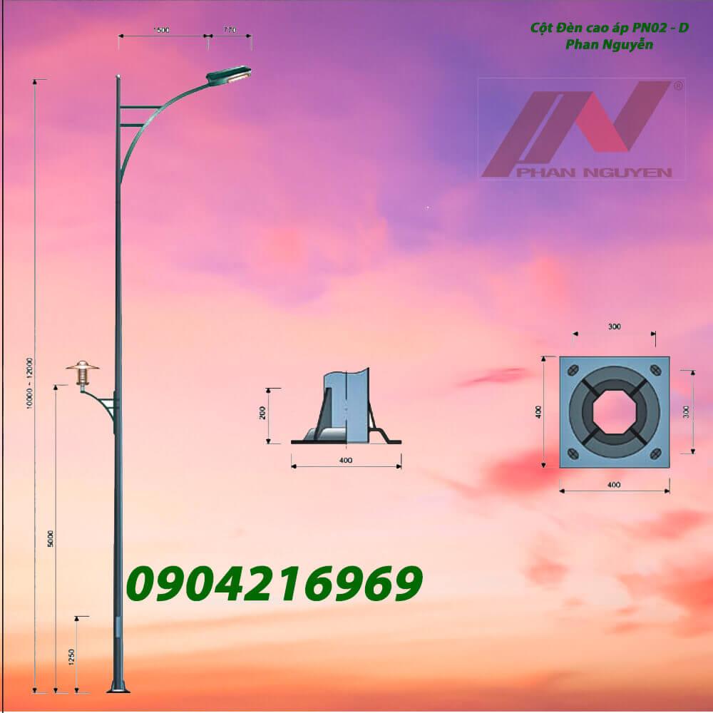 cột đèn chiếu sáng PN02