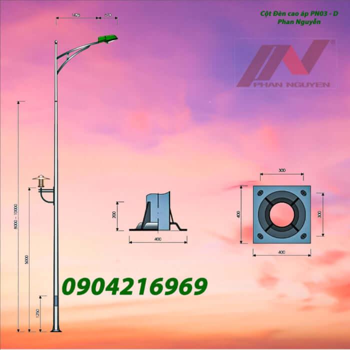 cột đèn chiếu sáng PN03