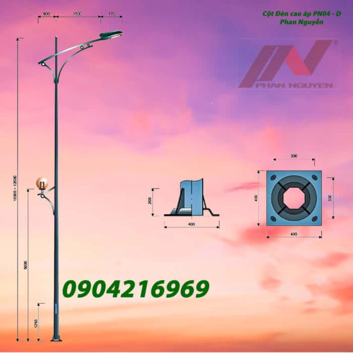 cột đèn cao áp chiếu sáng PN04