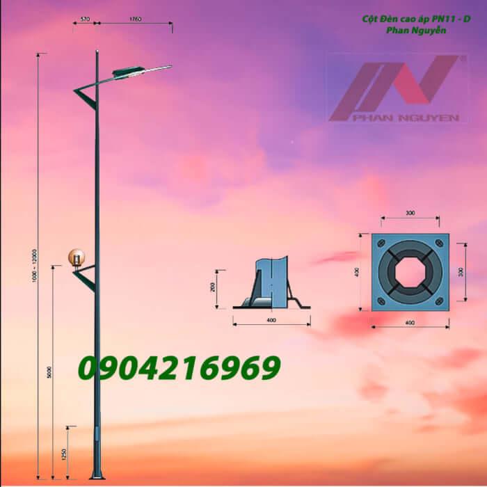 mẫu cột đèn chiếu sáng PN11