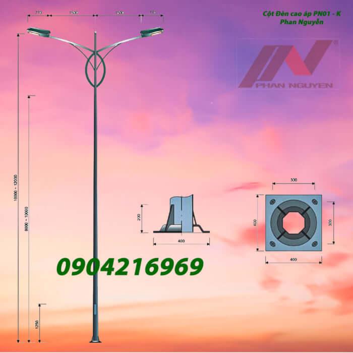 cột đèn chiếu sáng PN01 kép