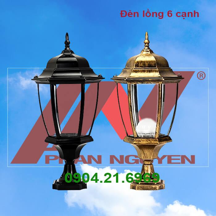 Đèn sân vườn đèn lồng 6 cạnh