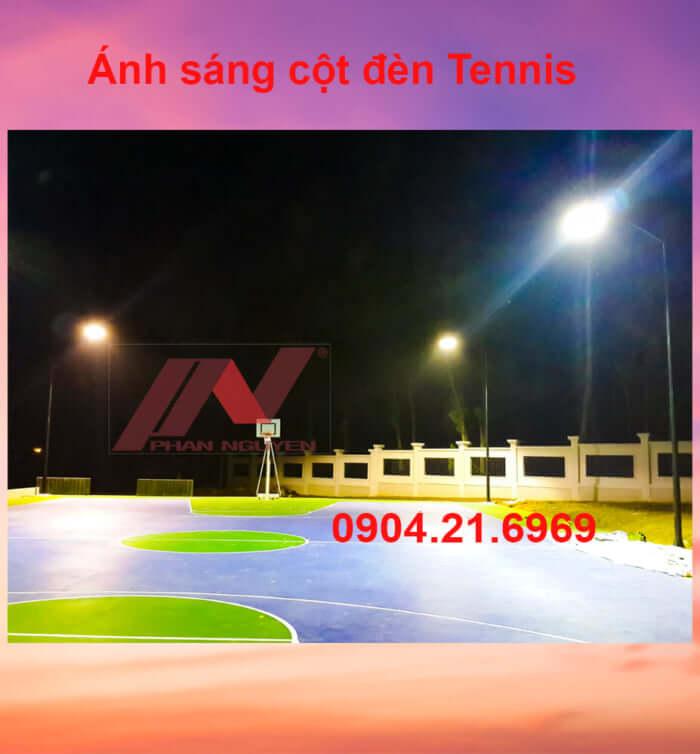 lắp đặt chiếu sáng sân tennis