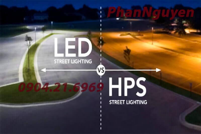 so sánh đèn đường led và đèn cao áp