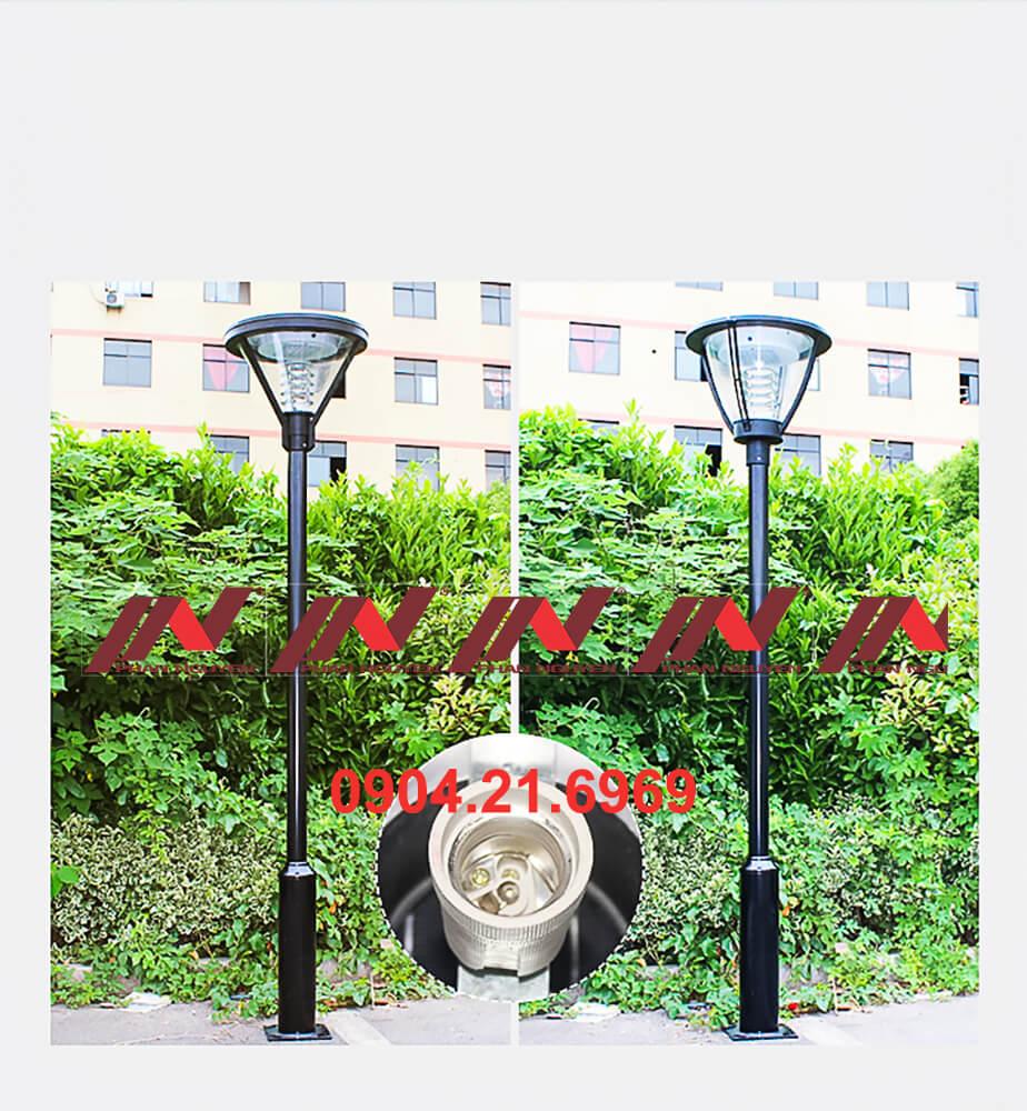 cột đèn sân vườn thép lắp 1 bóng