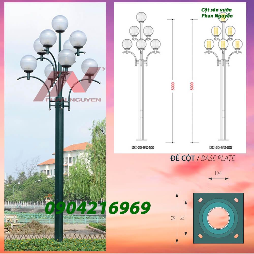 Cột đèn sân vườn DC20